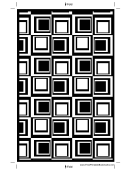 Black Squares Bookmark Template
