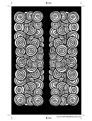 Black White Circles Bookmark Template
