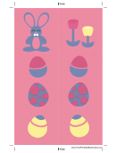 Pink Bunny Bookmark Template