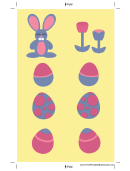 Yellow Bunny Bookmark Template