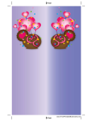 Purple Heart Balloons Bookmark Template