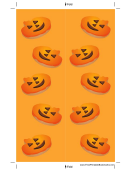 Orange Jack-o-lanterns Bookmark Template