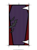 Vampire Bookmark Template