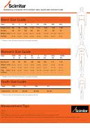 Scimitar Size Chart