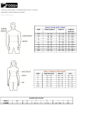 Fossa Apparel Standard Size Chart