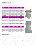Motionwear Size Chart