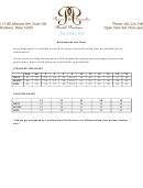 Jasmine Bridesmaids Size Chart