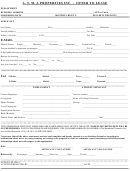 Offer To Lease Template