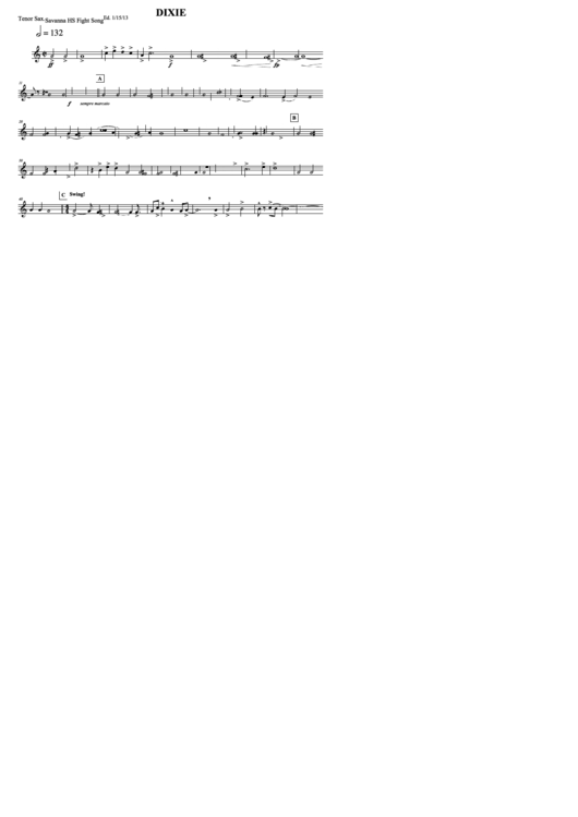 Top 20 Tenor Sax Sheets Music free to download in PDF format