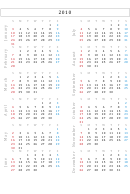 2010 Yearly Calendar Template