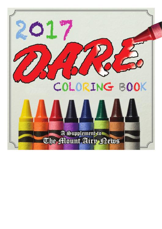 D.a.r.e. Coloring Book Printable pdf