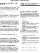 Montana Form Nol Instructions - Montana Net Operating Loss (nol) And Federal Nol - 2013