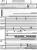 Form W-7 - Application For Irs Individual Taxpayer Identification Number
