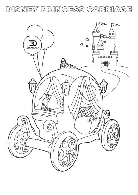 Disney Princess Carriage Coloring Sheet