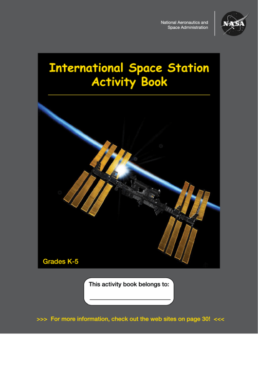 International Space Station Activity Sheets Printable pdf