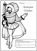 Christopher Columbus Activity Sheet