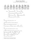 Sidney Arodin And Hoagy Carmichael - (up A) Lazy River Ukulele Chord Chart