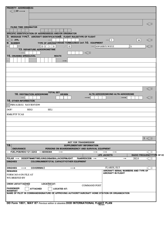 fillable dd form 1801