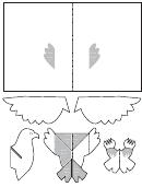 Foldable Eagle Template