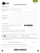 Form W-2 - Withholding Declaration - Montana Department Of Revenue - 2011