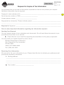 Form Rti - Request For Copies Of Tax Information - Montana Department Of Revenue