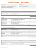 Home Inventory Worksheet