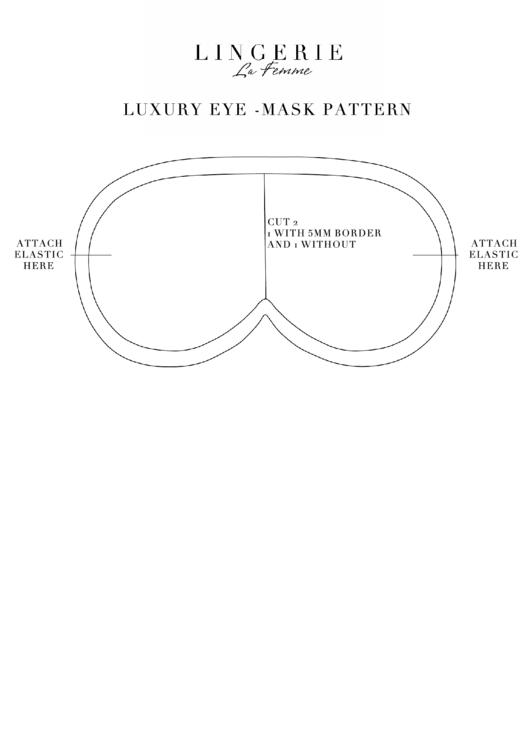 Top 5 eye mask templates free to download in pdf format luxury eye mask pattern template maxwellsz