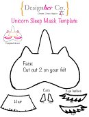 Unicorn Sleep Mask Template