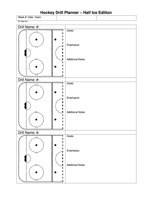 Top 5 Hockey Practice Plan Templates Free To Download In Pdf Format