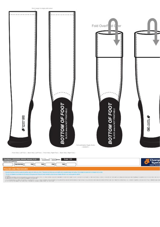 Sock Design Template Printable Pdf Download