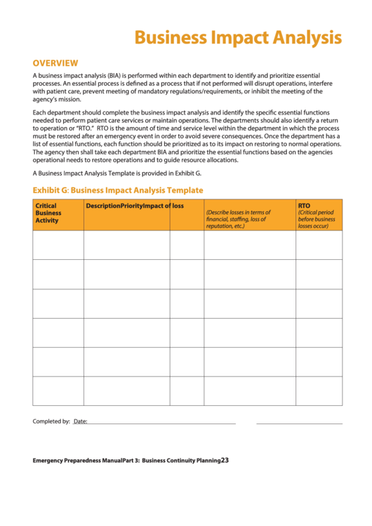 business impact analysis template for banks - top business impact analysis templates free to download in
