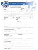 Application Form For Grading
