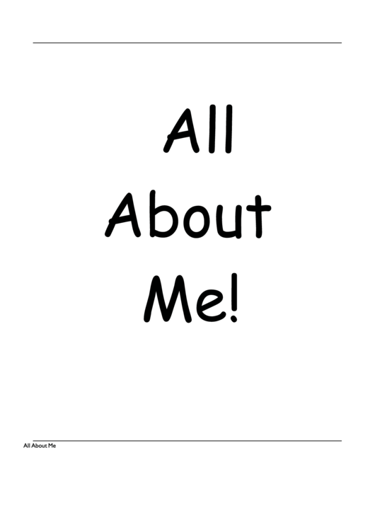 All About Me Book Template printable pdf download