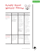 Sunday School Monthly Planner Template