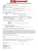 Authorization For A One-time Written Release Of Personal Health Information - Cvs Caremark Form