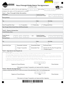 Form Pt-agr - Pass-through Entity Owner Tax Agreement - 2016
