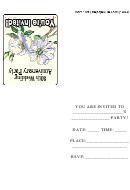 30th Wedding Anniversary Party Invitation Template