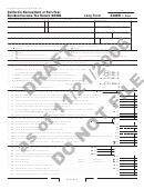 Form 540nr C1 Draft - California Nonresident Or Part-year Resident Income Tax Return 2006