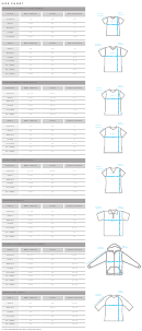 Relaxed Fit Crewneck T-shirt (unisex) Size Chart