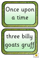 Three Billy Goats Game Cards Templates