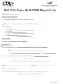 Cdc+ Duplicate W-2/1099 Request Form