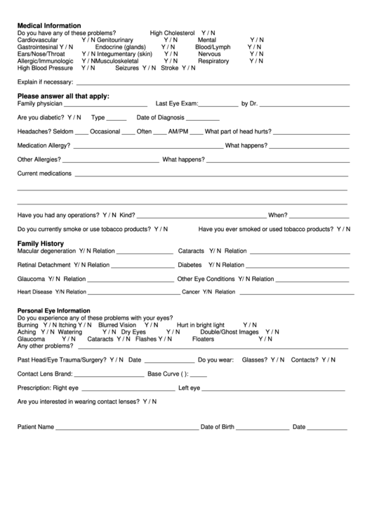 New Patient Forms Medical Office Printable Pdf Download