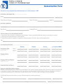 Immunization Form - Medical Exemption From Immunization