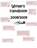 Writer's Handbook Worksheets And Charts - 8th-9th Grades, Hamburg Central School District