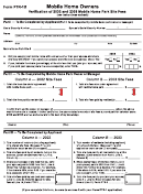 Form Ptr-1b - Mobile Home Owners - Verification Of 2002 And 2003 Mobile Home Park Site Fees