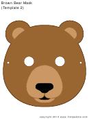 Brown Bear Mask (template 2)