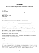 Sample Letter Requesting An Iep Team Meeting