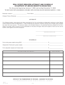 Form Crl-29 - Real Estate Brokers Affidavit And Schedule In Support Of Gross Receipts Deduction - Virginia Business Tax Division