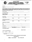Form St-299 - Affidavit For Delivery Of Tangible Personal Property To The Purchaser In A State Other Than South Carolina