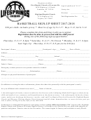 Basketball Sign-up Sheet 2017-2018